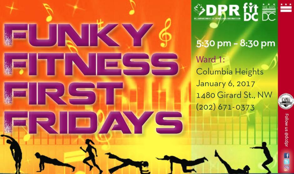 Funky Fitness First Friday Jan 2017 - front