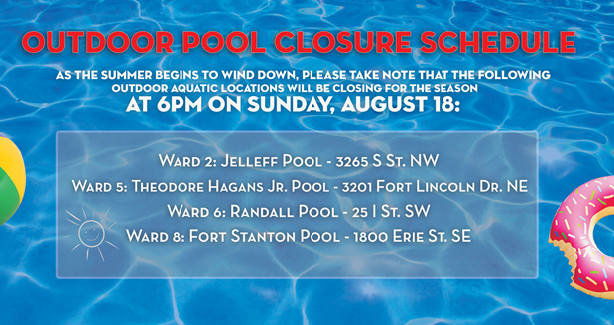 Outdoor Pool Closure Schedule
