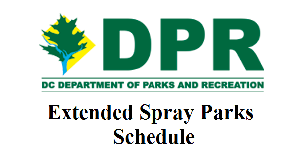 Extended Spray Parks schedule