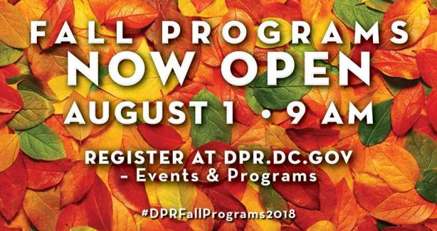 2018 Fall Program Registration