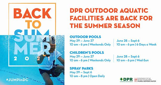 Outdoor Pools, Children's Pools, and Spray Parks are Now Open