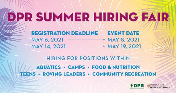 DPR Summer Hiring Fair