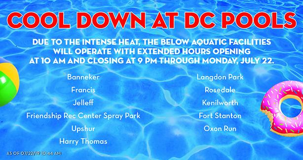 Pools with extended hours