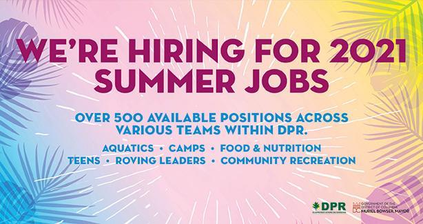 We're Hiring for 2021 Summer Jobs
