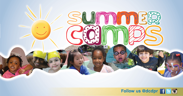 DPR Summer Camps graphic with photos of children