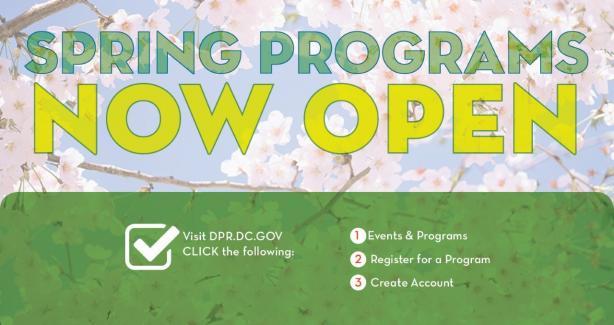 DPR's Spring Programs