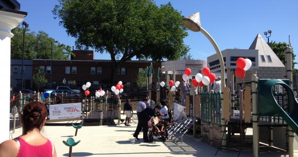 photo of Rosedale playground with balloons