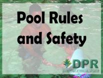 DPR Pool Rules and Safety logo